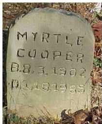 COOPER, MYRTLE - Scioto County, Ohio   MYRTLE COOPER - Ohio Gravestone Photos