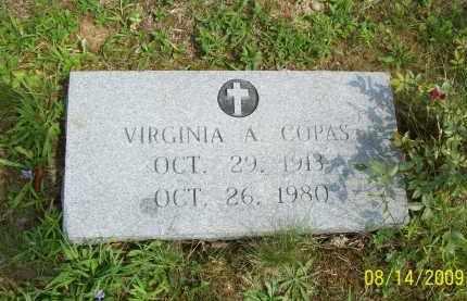 COPAS, VIRGINIA A - Scioto County, Ohio   VIRGINIA A COPAS - Ohio Gravestone Photos