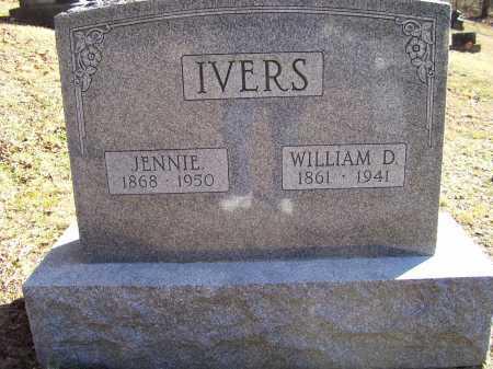 IVERS, JENNIE - Scioto County, Ohio   JENNIE IVERS - Ohio Gravestone Photos