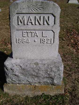 MANN, ETTA L. - Scioto County, Ohio   ETTA L. MANN - Ohio Gravestone Photos