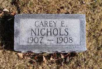 NICHOLS, CAREY E. - Scioto County, Ohio | CAREY E. NICHOLS - Ohio Gravestone Photos