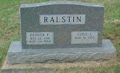 RALSTIN, CLEO J. - Scioto County, Ohio | CLEO J. RALSTIN - Ohio Gravestone Photos