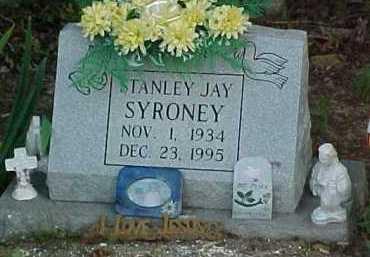 SYRONEY, STANLEY JAY - Scioto County, Ohio   STANLEY JAY SYRONEY - Ohio Gravestone Photos
