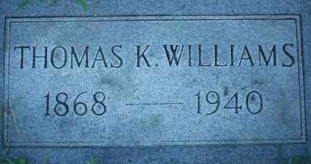 WILLIAMS, THOMAS K. - Scioto County, Ohio   THOMAS K. WILLIAMS - Ohio Gravestone Photos