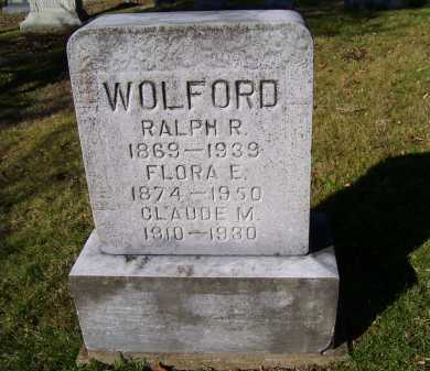 WOLFORD, CLAUDE M. - Scioto County, Ohio | CLAUDE M. WOLFORD - Ohio Gravestone Photos