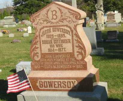 GITTINGER BOWERSOX, SUSAN - Seneca County, Ohio | SUSAN GITTINGER BOWERSOX - Ohio Gravestone Photos