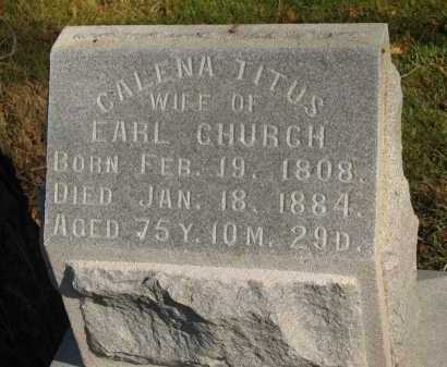 TITUS CHURCH, CALENA - Seneca County, Ohio | CALENA TITUS CHURCH - Ohio Gravestone Photos