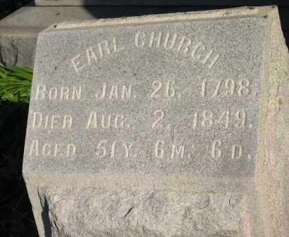 CHURCH, EARL - Seneca County, Ohio   EARL CHURCH - Ohio Gravestone Photos