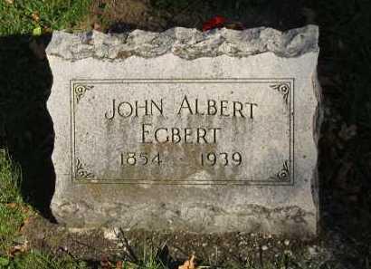 EGBERT, JOHN ALBERT - Seneca County, Ohio | JOHN ALBERT EGBERT - Ohio Gravestone Photos
