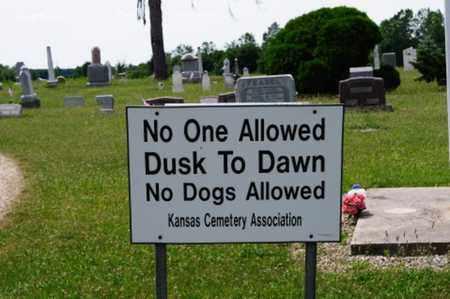 KANSAS, CEMETERY SIGN - Seneca County, Ohio | CEMETERY SIGN KANSAS - Ohio Gravestone Photos