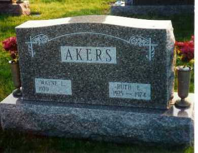AKERS, RUTH - Shelby County, Ohio | RUTH AKERS - Ohio Gravestone Photos