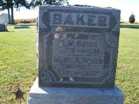 BAKER, MARY A. WELLS - Shelby County, Ohio | MARY A. WELLS BAKER - Ohio Gravestone Photos
