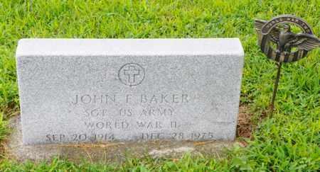 BAKER, JOHN F. - Shelby County, Ohio   JOHN F. BAKER - Ohio Gravestone Photos