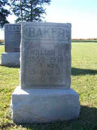 BAKER, SARAH J. - Shelby County, Ohio | SARAH J. BAKER - Ohio Gravestone Photos