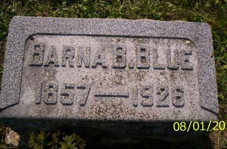 BLUE, BARNA B. - Shelby County, Ohio | BARNA B. BLUE - Ohio Gravestone Photos