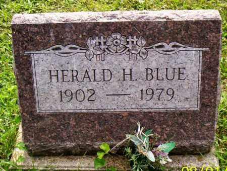 BLUE, HERALD H. - Shelby County, Ohio   HERALD H. BLUE - Ohio Gravestone Photos