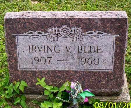 BLUE, IRVING V. - Shelby County, Ohio   IRVING V. BLUE - Ohio Gravestone Photos