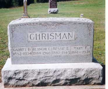 CHRISMAN, GARRETT D. - Shelby County, Ohio | GARRETT D. CHRISMAN - Ohio Gravestone Photos