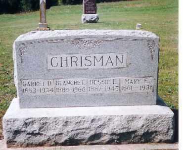 CHRISMAN, BLANCHE E. - Shelby County, Ohio | BLANCHE E. CHRISMAN - Ohio Gravestone Photos