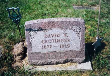COTINGER, DAVID N - Shelby County, Ohio | DAVID N COTINGER - Ohio Gravestone Photos