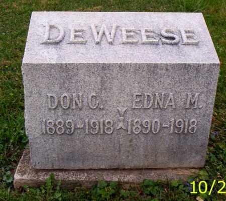 DEWEESE, EDNA M. - Shelby County, Ohio | EDNA M. DEWEESE - Ohio Gravestone Photos