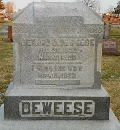 DEWEESE, JETHRO D. - Shelby County, Ohio | JETHRO D. DEWEESE - Ohio Gravestone Photos