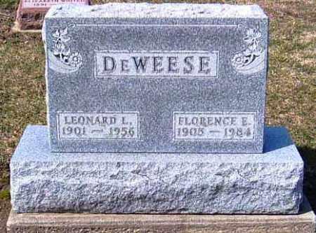 DEWEESE, FLORENCE E. - Shelby County, Ohio | FLORENCE E. DEWEESE - Ohio Gravestone Photos