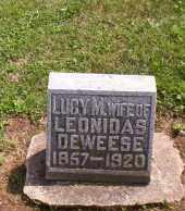 DEWEESE, LUCY M. - Shelby County, Ohio | LUCY M. DEWEESE - Ohio Gravestone Photos