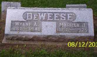 DEWEESE, WYANT A. - Shelby County, Ohio | WYANT A. DEWEESE - Ohio Gravestone Photos