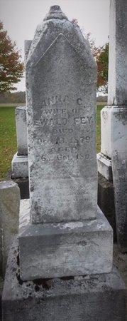 FEY, ANNA C - Shelby County, Ohio | ANNA C FEY - Ohio Gravestone Photos