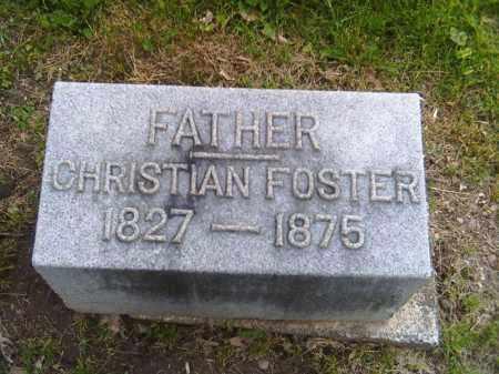 FOSTER, CHRISTIAN - Shelby County, Ohio | CHRISTIAN FOSTER - Ohio Gravestone Photos