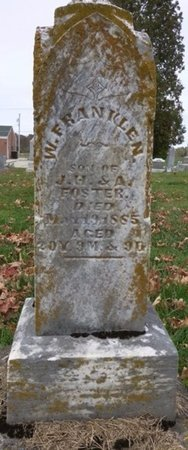 FOSTER, WILLIAM FRANKLEN - Shelby County, Ohio | WILLIAM FRANKLEN FOSTER - Ohio Gravestone Photos