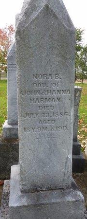 HARMAN, NORA B - Shelby County, Ohio   NORA B HARMAN - Ohio Gravestone Photos