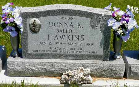 BALLOU HAWKINS, DONNA K. - Shelby County, Ohio   DONNA K. BALLOU HAWKINS - Ohio Gravestone Photos