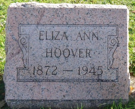HOOVER, ELIZA ANN - Shelby County, Ohio | ELIZA ANN HOOVER - Ohio Gravestone Photos