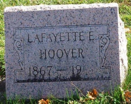 HOOVER, LAFAYETTE EDWARD - Shelby County, Ohio | LAFAYETTE EDWARD HOOVER - Ohio Gravestone Photos