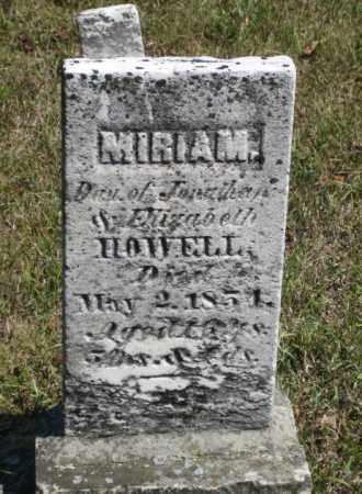HOWELL, MIRIAM - Shelby County, Ohio | MIRIAM HOWELL - Ohio Gravestone Photos