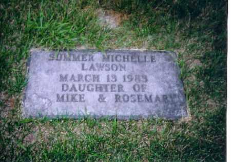 LAWSON, SUMMER MICHELLE - Shelby County, Ohio   SUMMER MICHELLE LAWSON - Ohio Gravestone Photos
