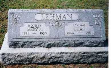 LEHMAN, ELIAS - Shelby County, Ohio | ELIAS LEHMAN - Ohio Gravestone Photos
