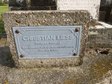 LEISS, CHRISTIAN - Shelby County, Ohio   CHRISTIAN LEISS - Ohio Gravestone Photos