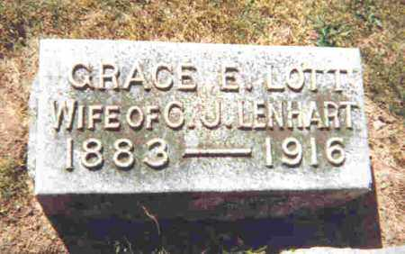 LENHART, GRACE ESTHER - Shelby County, Ohio | GRACE ESTHER LENHART - Ohio Gravestone Photos