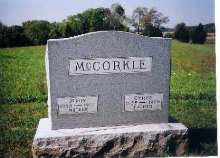 MCCORKLE, MARY - Shelby County, Ohio | MARY MCCORKLE - Ohio Gravestone Photos