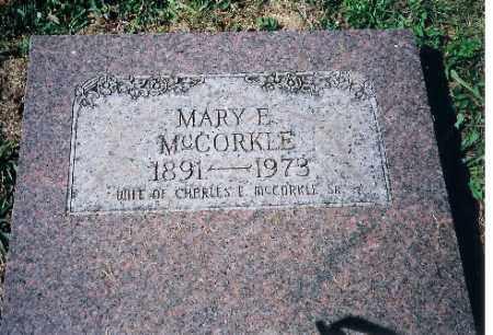 MCCORKLE, MARY F - Shelby County, Ohio   MARY F MCCORKLE - Ohio Gravestone Photos