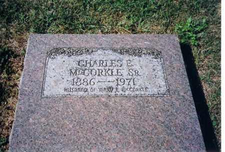 MCCORKLE SR, CHARLES E - Shelby County, Ohio | CHARLES E MCCORKLE SR - Ohio Gravestone Photos