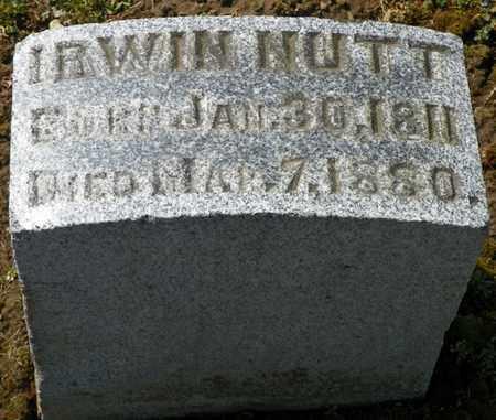 NUTT, IRWIN - Shelby County, Ohio   IRWIN NUTT - Ohio Gravestone Photos