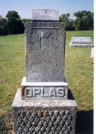 OPLAS, JENNIE - Shelby County, Ohio | JENNIE OPLAS - Ohio Gravestone Photos