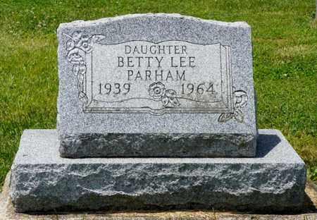 PARHAM, BETTY LEE - Shelby County, Ohio   BETTY LEE PARHAM - Ohio Gravestone Photos