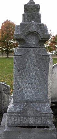 PFAADT, JACOB - Shelby County, Ohio | JACOB PFAADT - Ohio Gravestone Photos
