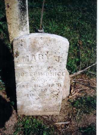 PRICE, MARY J - Shelby County, Ohio | MARY J PRICE - Ohio Gravestone Photos