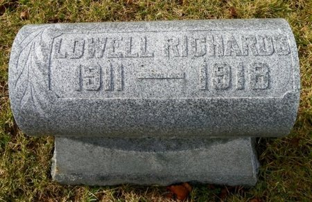 RICHARDS, LOWELL - Shelby County, Ohio | LOWELL RICHARDS - Ohio Gravestone Photos